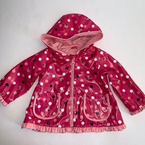 Oshkosh Infant Girls Pink Ladybug Rain Jacket 12M